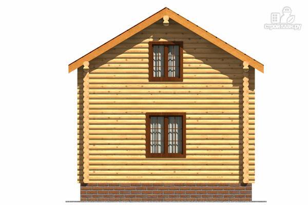 Фото 4: проект небольшой двухэтажный деревянный домик на две спальни