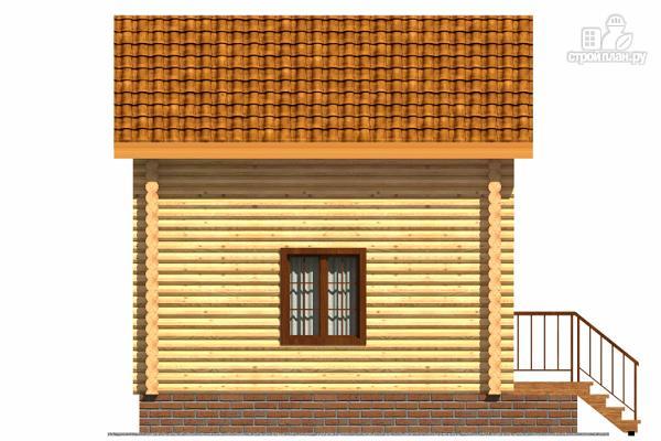 Фото 5: проект небольшой двухэтажный деревянный домик на две спальни