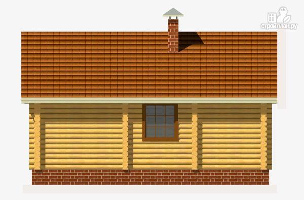 Фото 4: проект дом из бревна с одной спальней и террасой