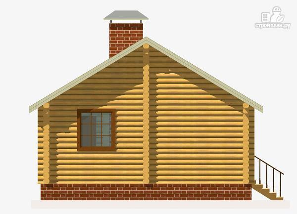 Фото 3: проект дом из бревна с одной спальней и террасой