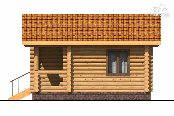 Фото 3: проект маленький деревянный дом с крыльцом