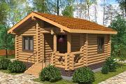 Фото: маленький деревянный дом с крыльцом