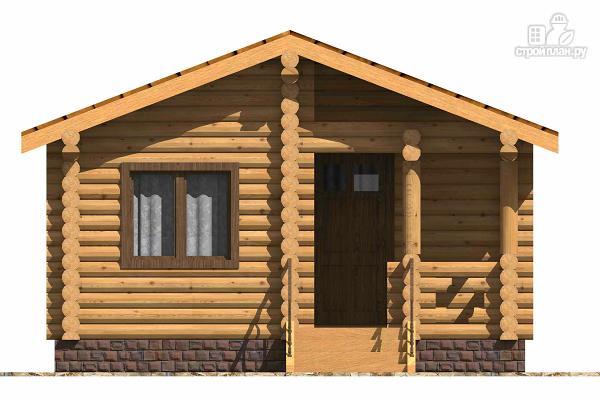 Фото 2: проект маленький деревянный дом с крыльцом