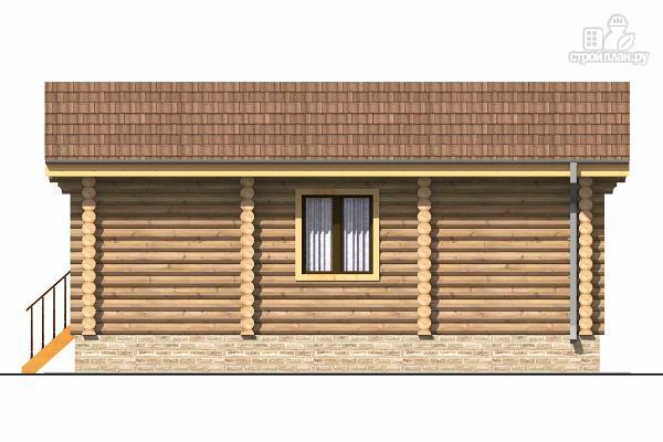 Фото 3: проект одноэтажный бревенчатый дом с крыльцом