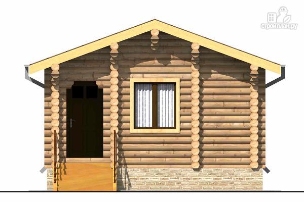 Фото 2: проект одноэтажный бревенчатый дом с крыльцом