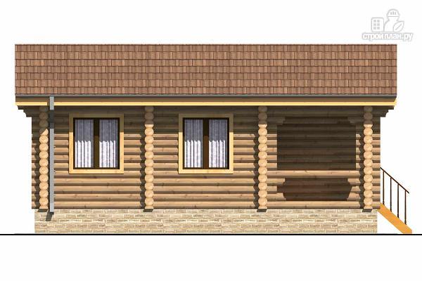 Фото 5: проект одноэтажный бревенчатый дом с крыльцом