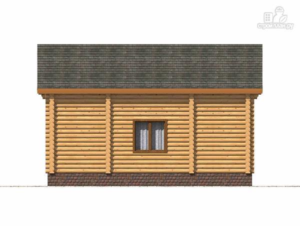 Фото 4: проект полутораэтажный бревенчатый дом с террасой