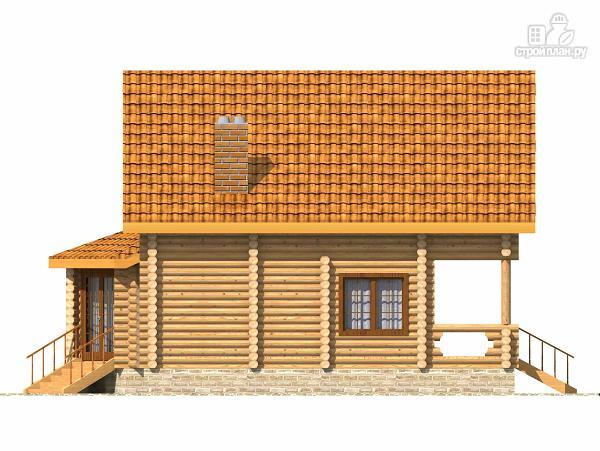 Фото 5: проект деревянный дом с парной и большой верандой