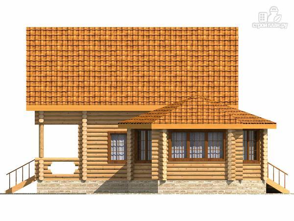 Фото 3: проект деревянный дом с парной и большой верандой