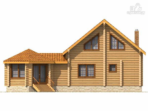 Фото 4: проект деревянный дом с парной и большой верандой