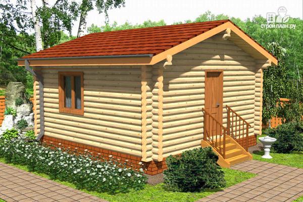 Фото: проект дачный домик из бревна