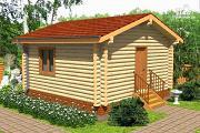 Проект дачный домик из бревна