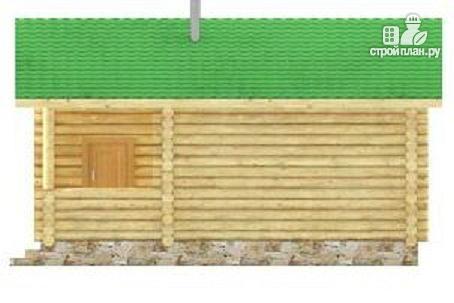 Фото 5: проект баня из цилиндрического бревна с тамбуром и крыльцом