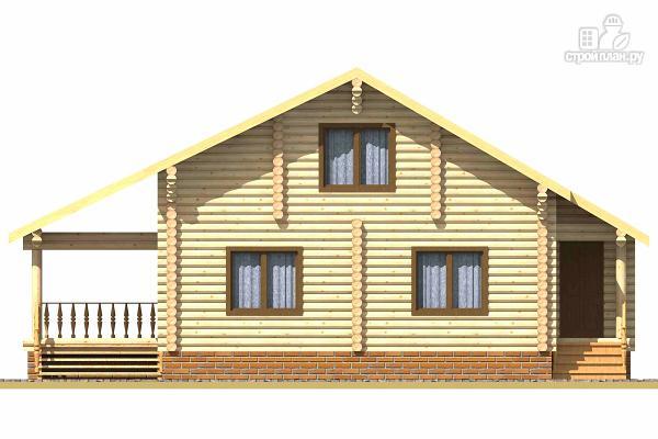 Фото 2: проект бревенчатый дом на четыре спальни с кабинетом и гардеробной