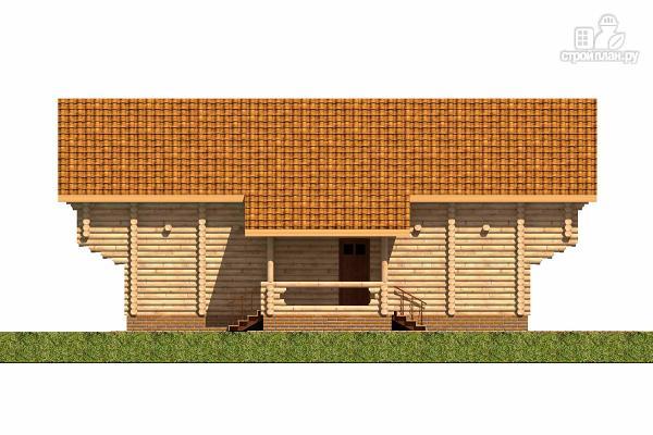 Фото 5: проект большой деревянный загородный дом с  просторной гостиной