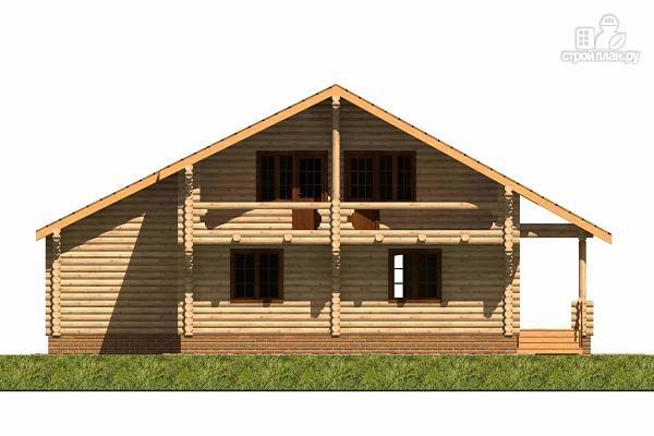 Фото 4: проект большой деревянный загородный дом с  просторной гостиной