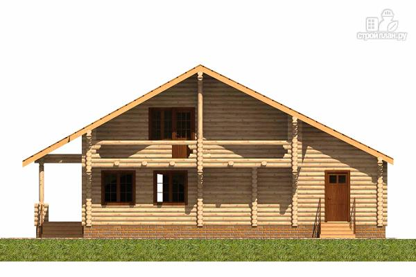 Фото 2: проект большой деревянный загородный дом с  просторной гостиной