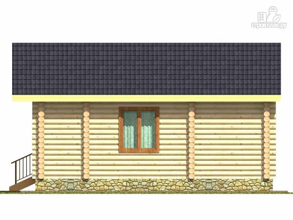 Фото 3: проект баня из дерева с большой комнатой отдыха и террасой