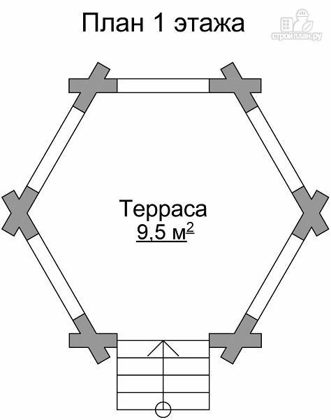 Фото 6: проект шестиугольная беседка из сруба