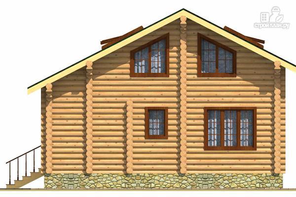 Фото 4: проект двухэтажный дом из сруба с тремя спальнями, парной и котельной