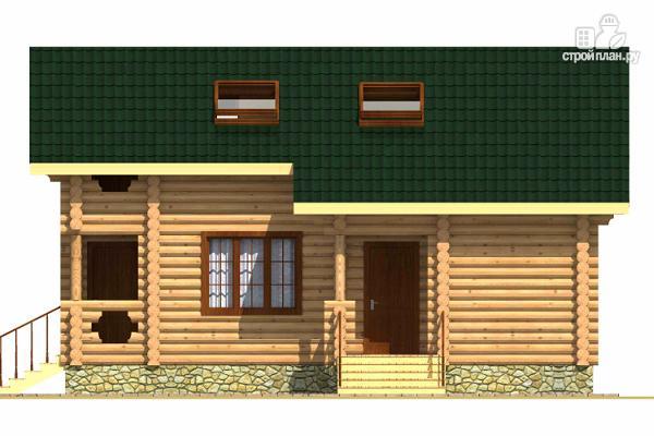 Фото 3: проект двухэтажный дом из сруба с тремя спальнями, парной и котельной