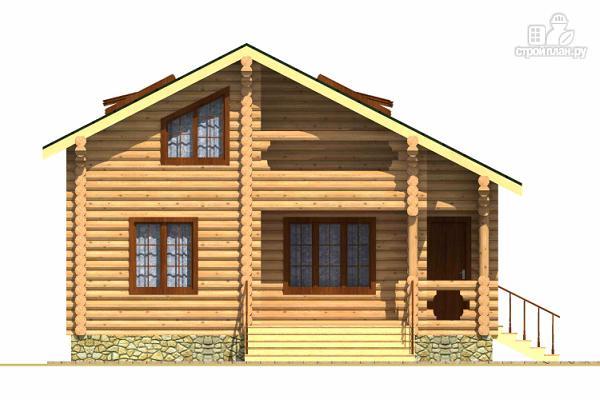 Фото 2: проект двухэтажный дом из сруба с тремя спальнями, парной и котельной
