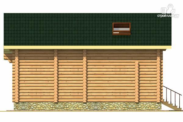 Фото 5: проект двухэтажный дом из сруба с тремя спальнями, парной и котельной