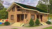 Фото: двухэтажный дом из сруба с тремя спальнями, парной и котельной