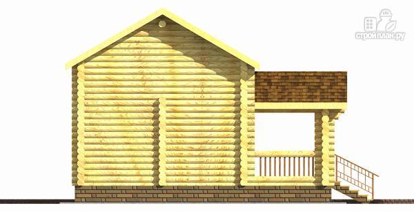 Фото 4: проект бревенчатый двухэтажный дом-баня с тремя спальнями
