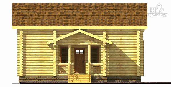 Фото 3: проект бревенчатый двухэтажный дом-баня с тремя спальнями