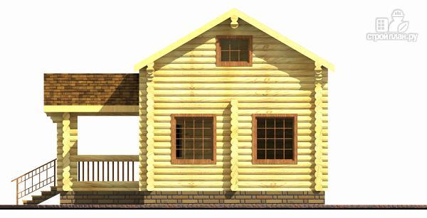 Фото 2: проект бревенчатый двухэтажный дом-баня с тремя спальнями