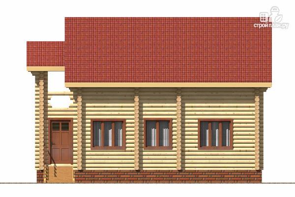 Фото 3: проект деревянный дом с тамбуром, балконом и четырьмя спальнями