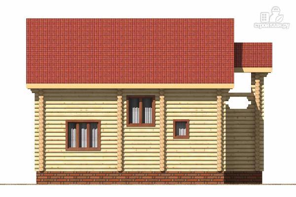 Фото 5: проект деревянный дом с тамбуром, балконом и четырьмя спальнями