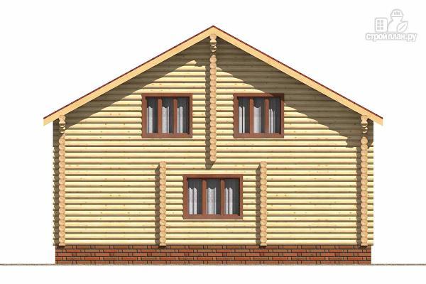 Фото 4: проект деревянный дом с тамбуром, балконом и четырьмя спальнями