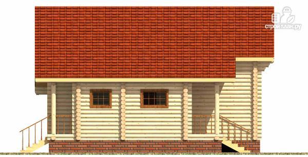Фото 5: проект дом из цилиндрического бревна с эркером и холлом «второй свет»