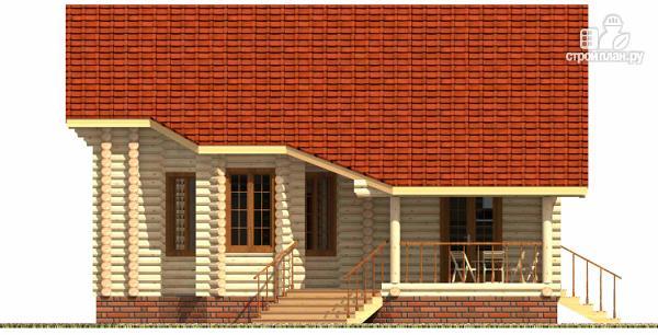 Фото 3: проект дом из цилиндрического бревна с эркером и холлом «второй свет»