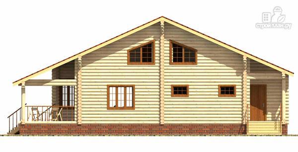 Фото 4: проект дом из цилиндрического бревна с эркером и холлом «второй свет»