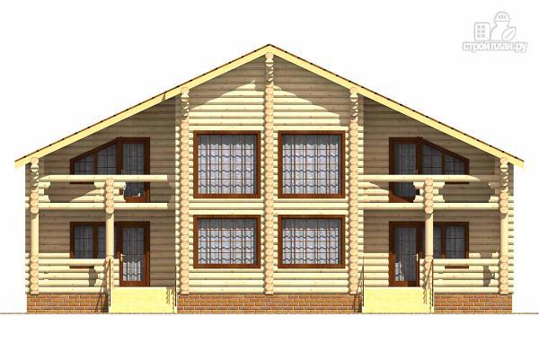 Фото 2: проект двухэтажный бревенчатый дом на пять спален с холлом «второй свет»