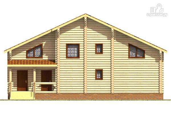Фото 4: проект двухэтажный бревенчатый дом на пять спален с холлом «второй свет»