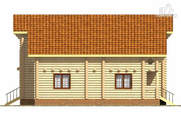 Фото 3: проект двухэтажный бревенчатый дом на пять спален с холлом «второй свет»
