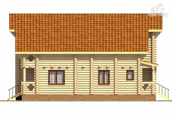 Фото 5: проект двухэтажный бревенчатый дом на пять спален с холлом «второй свет»