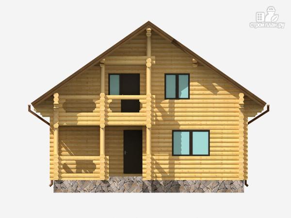 Фото 2: проект полутораэтажный деревянный дом на три спальни