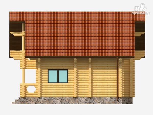 Фото 5: проект полутораэтажный деревянный дом на три спальни
