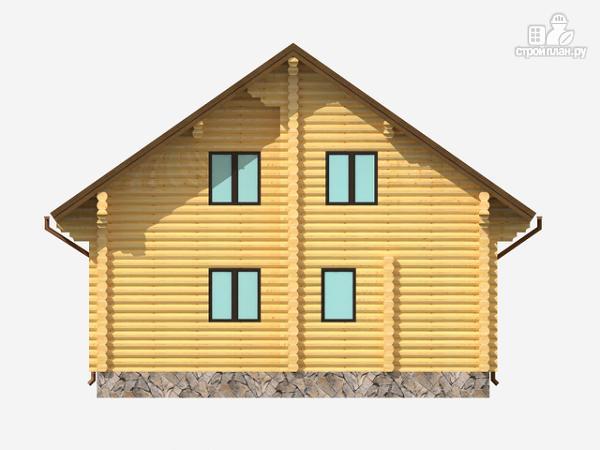 Фото 3: проект полутораэтажный деревянный дом на три спальни
