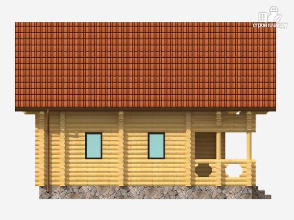 Фото 4: проект полутораэтажный деревянный дом на три спальни