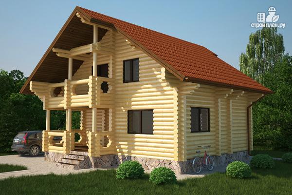 Фото: проект полутораэтажный деревянный дом на три спальни