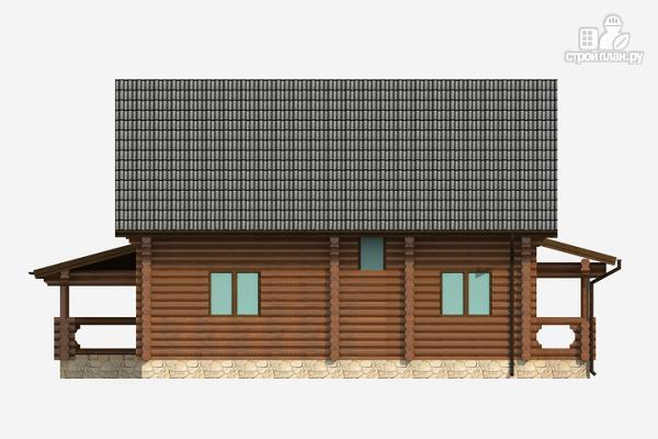 Фото 3: проект бревенчатый дом на три спальни с котельной и холлом «второй свет»