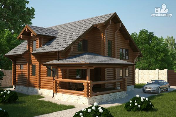 Фото: проект бревенчатый дом на три спальни с котельной и холлом «второй свет»