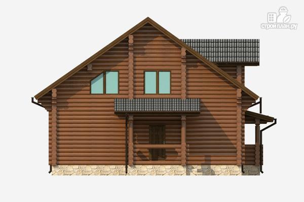 Фото 5: проект бревенчатый дом на три спальни с котельной и холлом «второй свет»