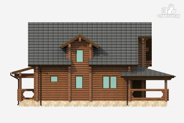 Фото 2: проект бревенчатый дом на три спальни с котельной и холлом «второй свет»